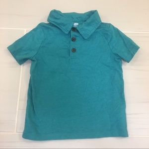 Old Navy teal polo shirt